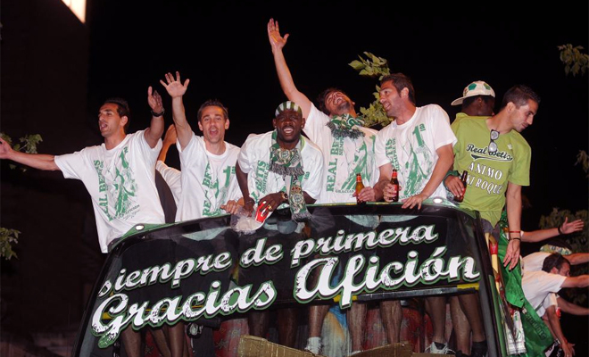 Celebración del ascenso de 2011