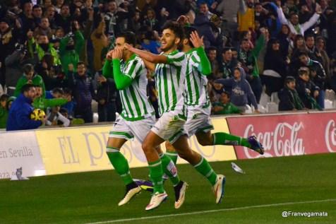 Celebración segundo gol de Ruben (Betis - Tenerife 14/15)