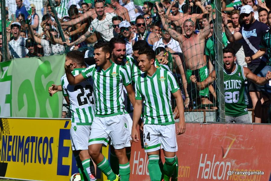 Celebracion del gol  (Betis-Lugo 14/15)