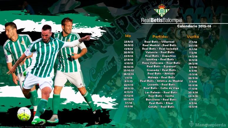 Calendario 2015/16 del Real Betis Balompié