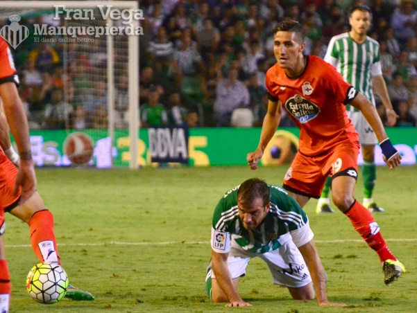Van Der Vart cae al suelo (Betis-Deportivo 15/16)