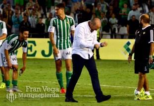 Mel celebra la victoria con rabia (R.Betis - R.Sociedad 15/16)