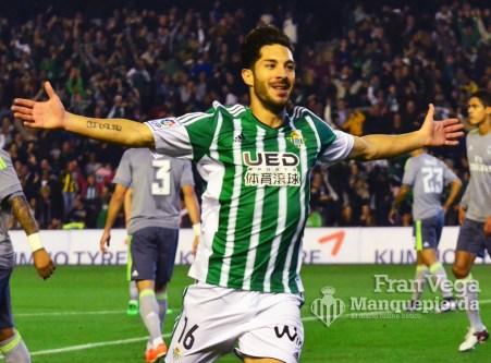 Gol de Cejudo frente al Madrid (Betis-Madrid 15/16)