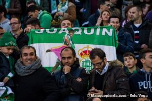 Aficionado mostrando su bandera con Joaquín de torero.