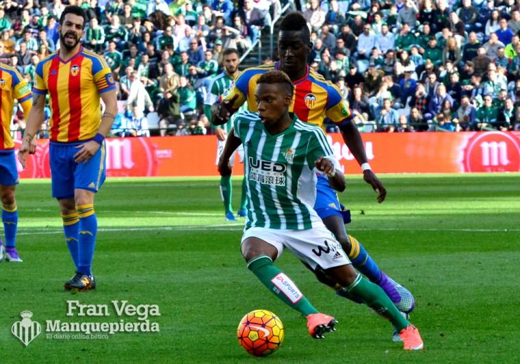 Musonda volvió loca a la defensa ché  (Betis-Valencia 15/16)