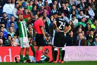 Rafa Navarro cae lesionado (Betis-Leganes 16/17)