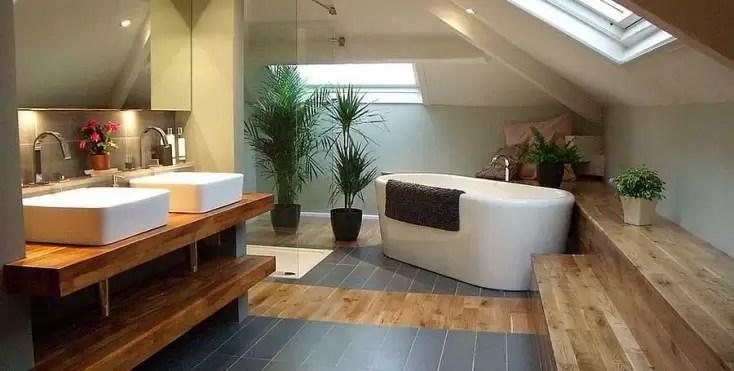 Come organizzare gli spazi nel bagno in mansarda  Mansardait
