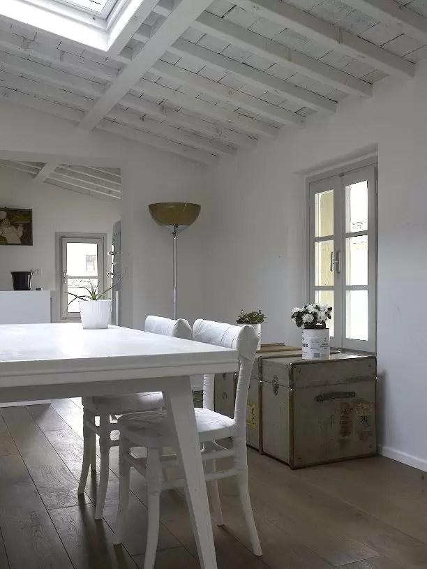 Una vecchia soffitta trasformata in un loft  Mansardait