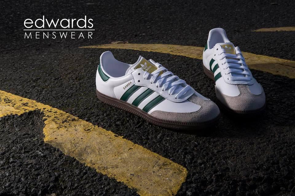 adidas Samba OG - White / Green / Gum