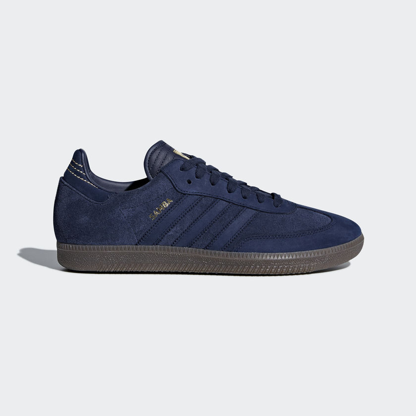 adidas Samba FB Navy Blue / Gold CQ2089