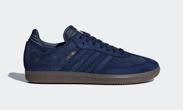 Adidas Originals Samba FB – Navy Blue / Gold
