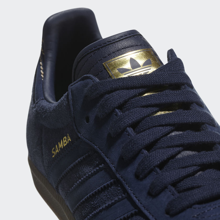 new product 004e2 cc6ab Adidas Originals Samba FB – Navy Blue  Gold