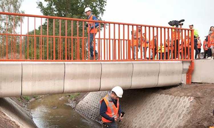 Gemert'te dünyanın üç boyutlu yazıcıyla yapılan ilk köprüsü açıldı