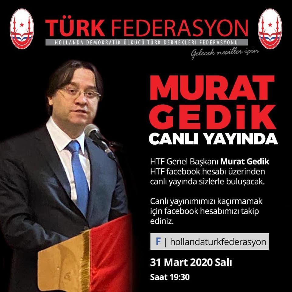 HTF Genel Başkanı Murat Gedik, Vatandaşlarla Sosyal Medya'da Buluşuyor