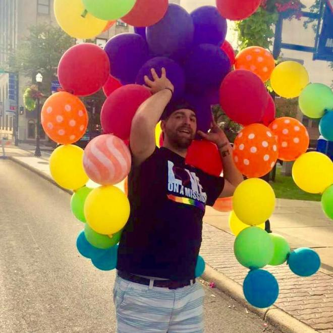 Parker and balloons