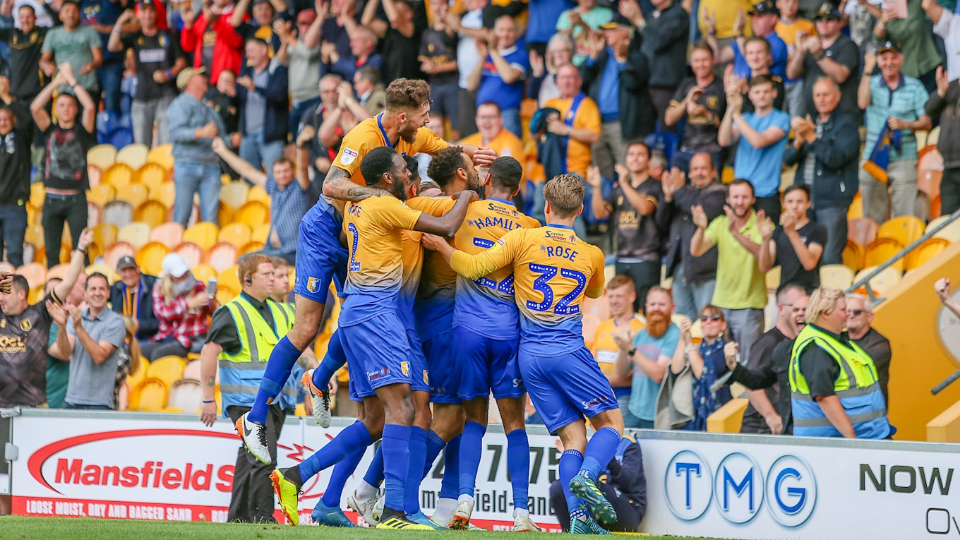 Match report Stags 11 Colchester United  News  Mansfield Town