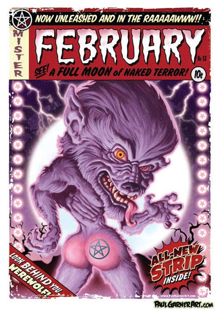 Nudie Monsters calendar
