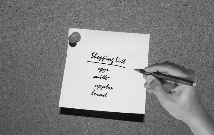 %name shopping list