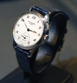 A rare Patek Philippe platinum minute repeater at an action in New York in 2007. Only nine such watches are known t exist and they were priced between $250,000 to $350,000