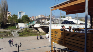 The bridge in Mitrovica