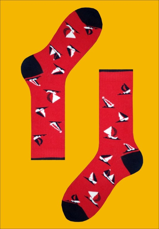 Bright coloured printed socks from Mustang Socks
