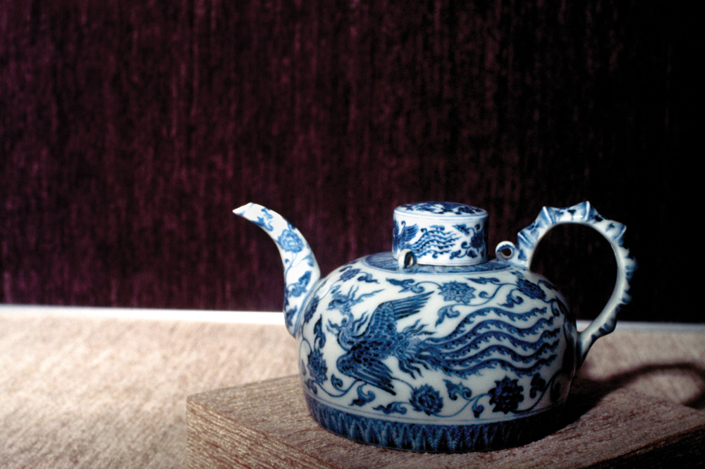 A teapot from the Ming dynasty at the National Palace Museum