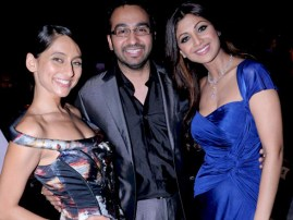 Anousha_Dandekar,_Raj_Kundra_and_Shilpa_Shetty_at_IPL,_2010_(3)