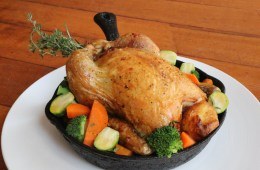 Salt Water Cafe-  Roasted Whole Chicken With Stuffing  & Gravy with a Bunch of Sides
