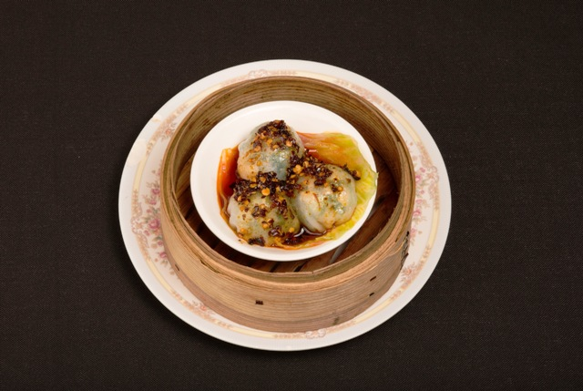 Bakchoy Dumpling with Chilli Oil