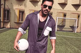 John Abraham loves football