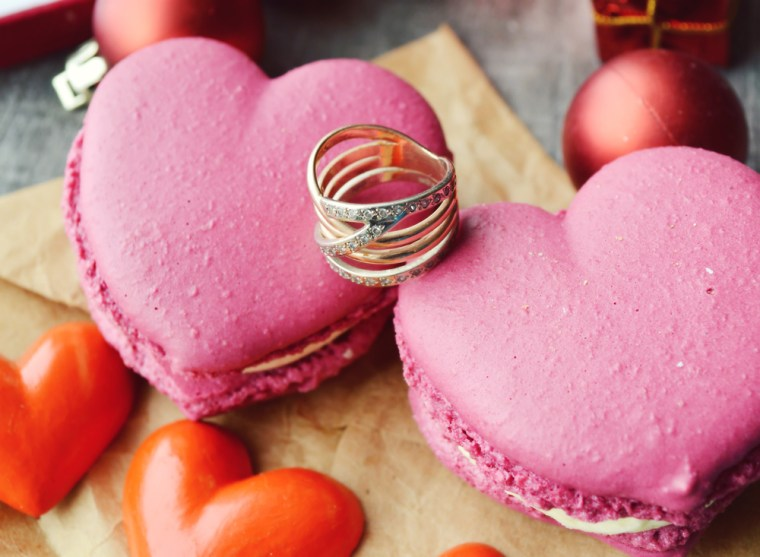 Heart Shaped macaroons at Foodhall