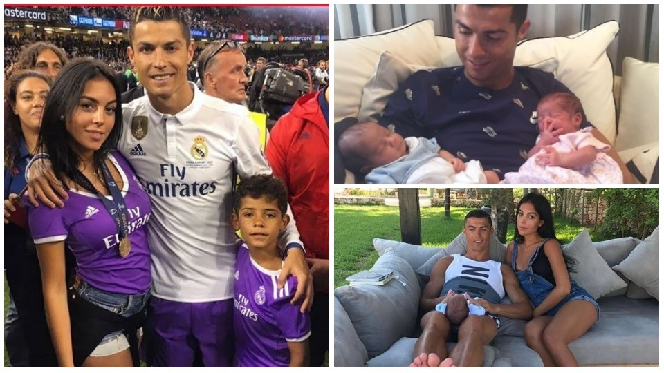 Image result for cristiano with kids