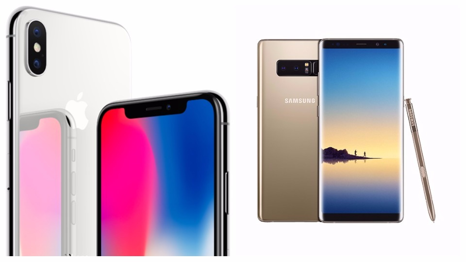 The iPhoneX vs the Samsung Note 8