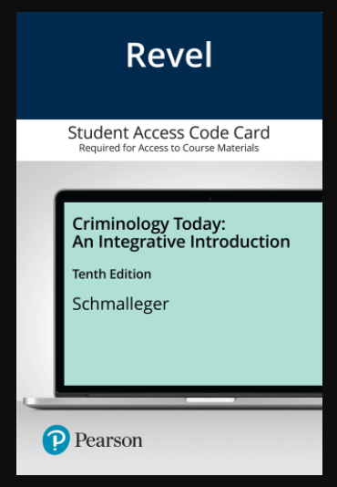 this cover Criminology Today: An Integrative Introduction 10th Edition book by Schmalleger