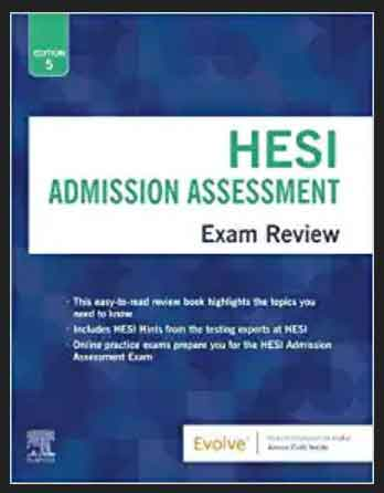 This Image of Admission Assessment Exam Review 5th Edition, pdf, ebook and free download by HESI