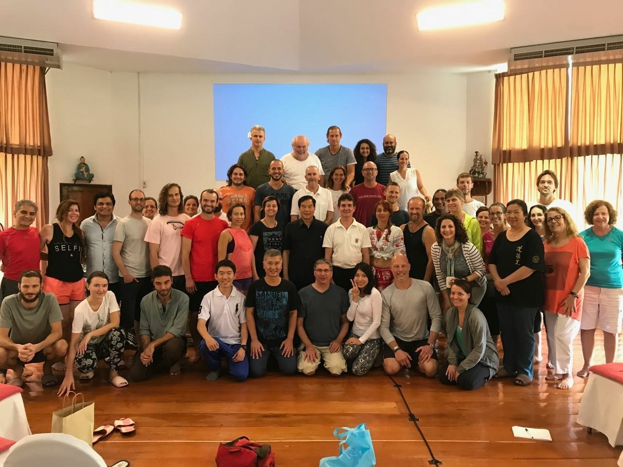 Group of students at Summer Retreat 2017 Week 1 with Mantak Chia