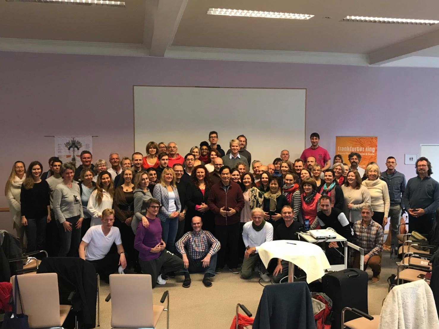 Group of students from European Fall 2017 workshop in Frankfurt, Germany