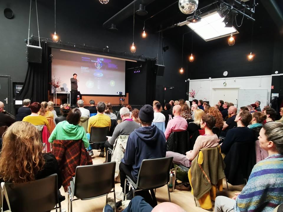 Students learning from Mantak Chia – European Fall 2019 in Copenhagen, Denmark