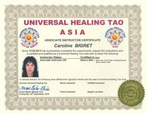 UHT Certification Copies – Caroline Bigret