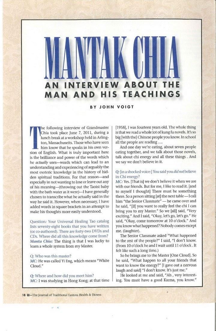Mantak Chia Interview 2