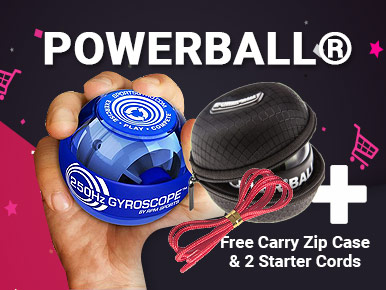 Buy ANY Powerball® deal and receive a free zip-up carry case and 2x free starter cords
