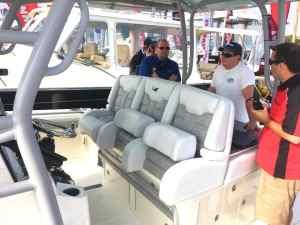 boat helm boat show florida