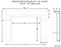 Wood Fireplace Mantels | Bridgewater Standard