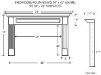 Wood Fireplace Mantels | Fireplace Mantels | Fredricksburg ...