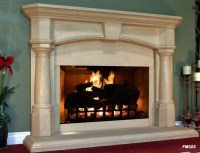 Tyual: How to build a fireplace mantel shelf over brick