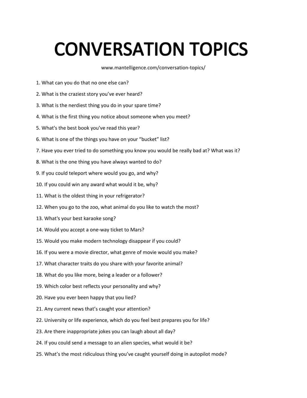89 great conversation topics