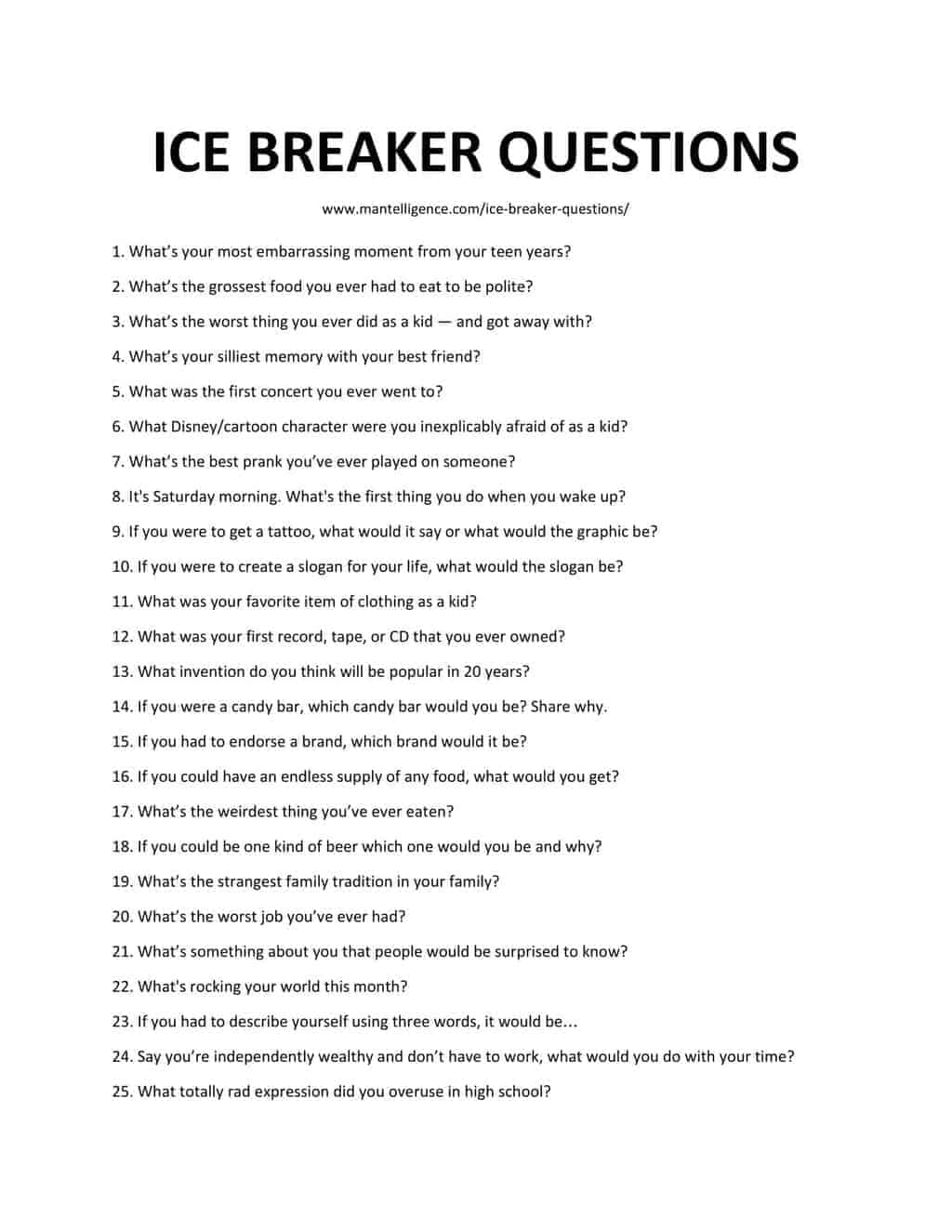126 Best Ice Breaker Questions Quickly Spark Great
