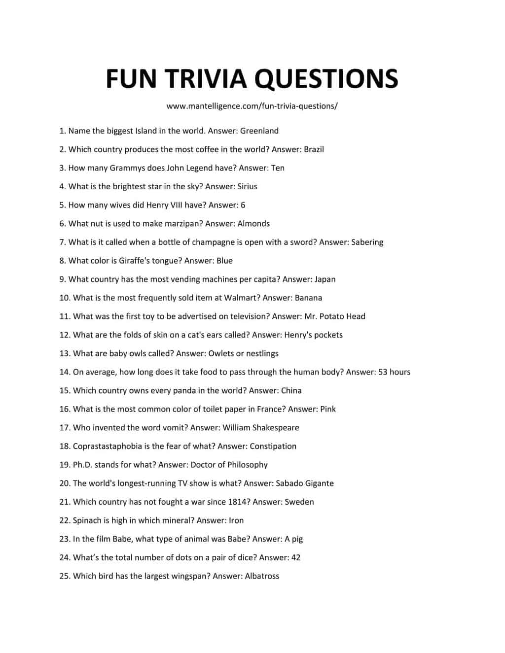 Halloween Trivia Questions For Kids
