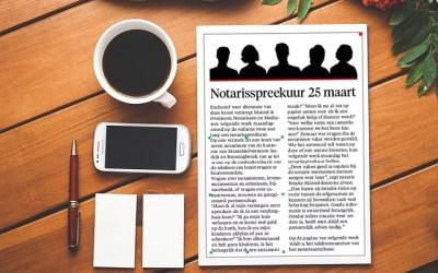 Notaris spreekuur bij Noord Hollands Dagblad – gratis informatie voor lezers