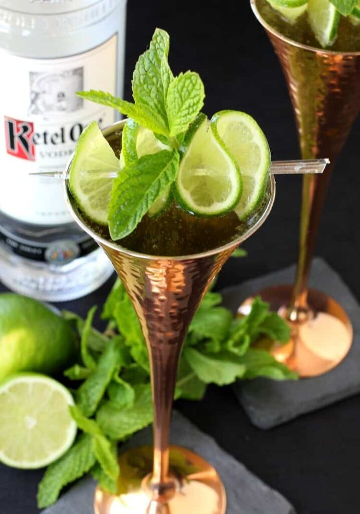 Champagne Moscow Mule A Champagne And Vodka Cocktail Recipe